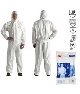 ชุดป้องกันสารเคมี 3M 4545 PPE Coverall คุณภาพได้มาตรฐาน ป้องกันสารเคมี และเชื้อโรค